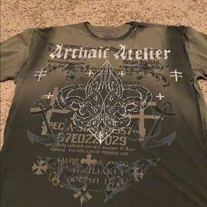 Men's green Affliction shirt